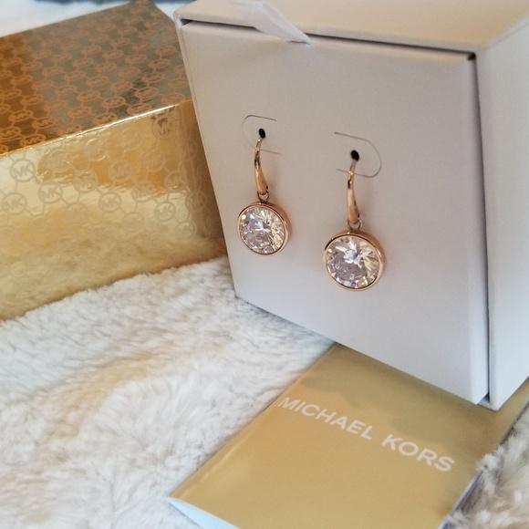 Michael Kors Jewelry - NIB* Michael Kors Rose Gold Earrings*